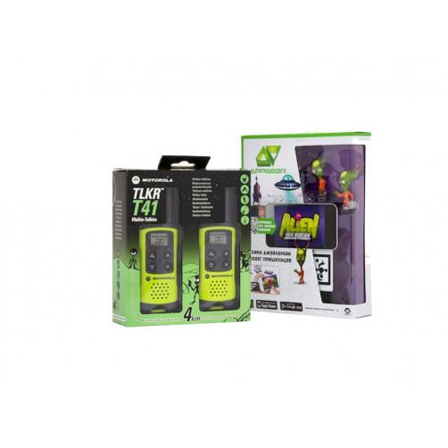 Motorola TLKR T41 green + подарок PMR Инопланетная безлицензионная радиостанция