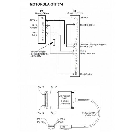 Motorola GTF374 Кабель-адаптер для программирования