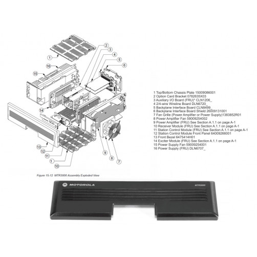 Motorola 6475414H01 Лицевая панель ретранслятора