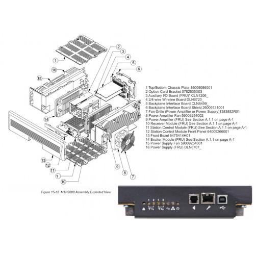 Motorola 64009266001 Панель контрольного модуля